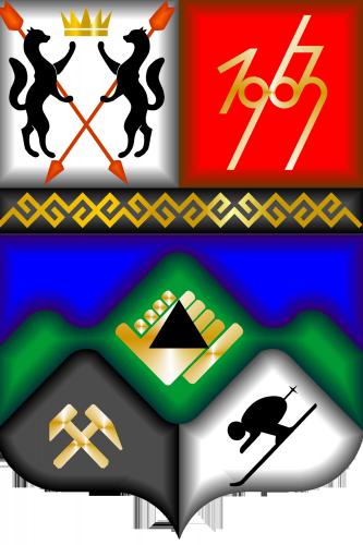 герб Таштагольский район